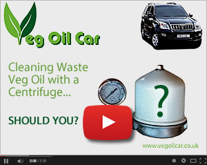 Should you use a Centrifuge to filter WVO - my video on YouTube
